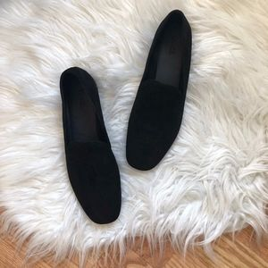 NEW Vince Bray Black Leather Loafers 7